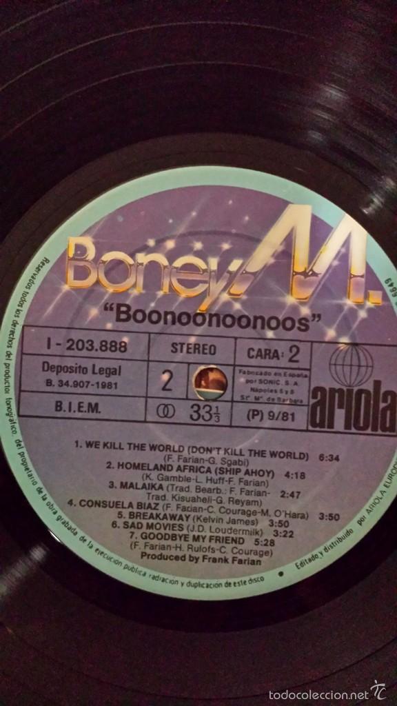 Discos de vinilo: Boonoonoonoos de Boney M. - Foto 2 - 57380162