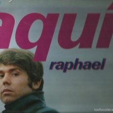 Discos de vinilo: RAPHAEL. LP VINILO.. SELLO HISPA VOX. AÑO 1969.EDITADO EN ESPAÑA. Lote 57381128