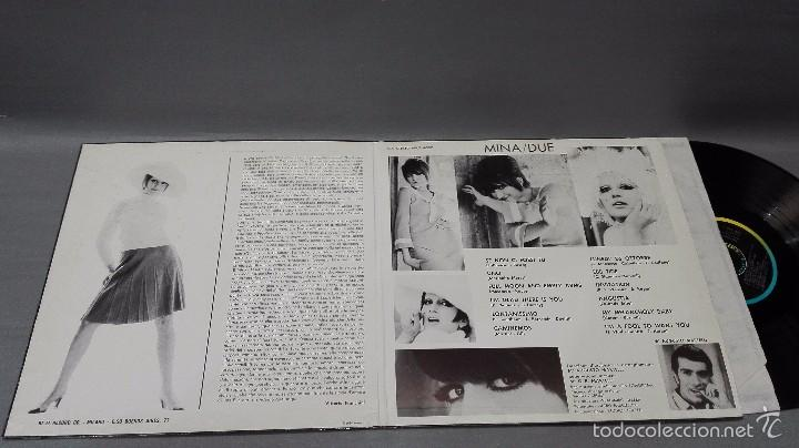 Discos de vinilo: 918- MINA DUE -DISCO VINILO LP - PORTADA VG +/ DISCO VG + - Foto 2 - 57383087