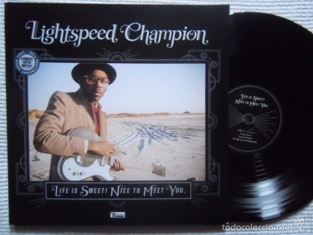 LIGHTSPEED CHAMPION - '' LIFE IS SWEET! NICE TO MEET YOU '' 2 LP + ART PRINT + LINK (Música - Discos - LP Vinilo - Pop - Rock Extranjero de los 90 a la actualidad)
