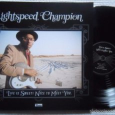 Discos de vinilo: LIGHTSPEED CHAMPION - '' LIFE IS SWEET! NICE TO MEET YOU '' 2 LP + ART PRINT + LINK. Lote 57387941