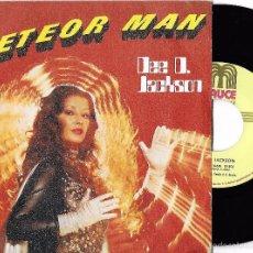 Discos de vinilo: DEE D. JACKSON: METEOR MAN / GALAXY POLICE. Lote 57392442