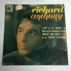 Discos de vinilo: RICHARD ANTHONY.LÉTE.EP.ESPAÑA 1968.LA VOZ DE SU AMO.. Lote 57397276