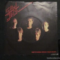 Discos de vinilo: SALFORD JETS - SHE'S GONNA BREAK YOUR HEART - SG - EDICION INGLESA DEL AÑO 1980. Lote 57399748