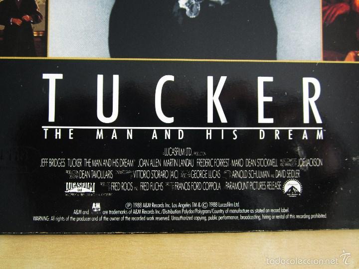 Discos de vinilo: ORIGINAL MOTION PICTURE - TUCKER (THE MAN AND HIS DREAM) - VINILO ORIGINAL 1988 AM RECORDS USA - Foto 6 - 57400433