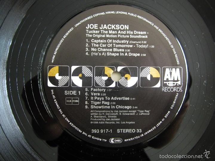 Discos de vinilo: ORIGINAL MOTION PICTURE - TUCKER (THE MAN AND HIS DREAM) - VINILO ORIGINAL 1988 AM RECORDS USA - Foto 8 - 57400433