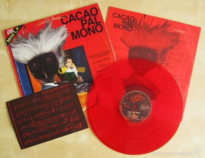 CACAO PAL MONO - SI EXISTE EL COLOR... - MINI LP DEBUT VINILO ROJO ORIGINAL 1984 EDICION GIRA (Música - Discos de Vinilo - EPs - Grupos Españoles de los 70 y 80)