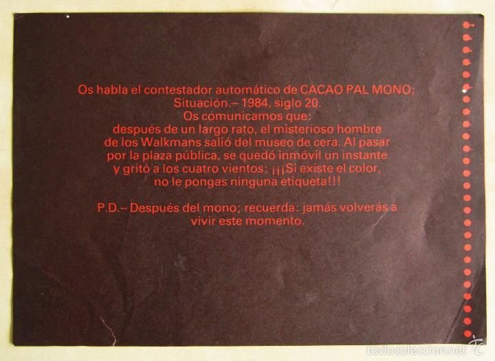 Discos de vinilo: CACAO PAL MONO - SI EXISTE EL COLOR... - MINI LP DEBUT VINILO ROJO ORIGINAL 1984 EDICION GIRA - Foto 9 - 57401358