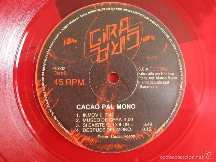 Discos de vinilo: CACAO PAL MONO - SI EXISTE EL COLOR... - MINI LP DEBUT VINILO ROJO ORIGINAL 1984 EDICION GIRA - Foto 10 - 57401358