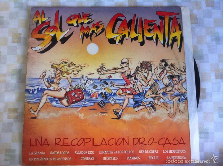 LP AL SOL QUE MAS CALIENTA-VARIOS-UNA RECOPILACION DRO-GASA (Música - Discos - LP Vinilo - Grupos Españoles de los 70 y 80)