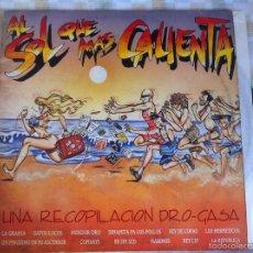 Discos de vinilo: LP AL SOL QUE MAS CALIENTA-VARIOS-UNA RECOPILACION DRO-GASA. Lote 57402736