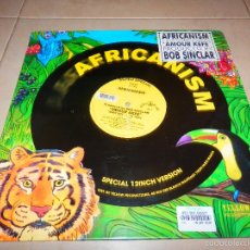 Disques de vinyle: AFRICANISM SUPER SPECIAL BOB SINCLAR AMOUR KEFE MAIN MIX EP DISCO VINILO DANCE HOUSE TECHNO V3. Lote 57404248