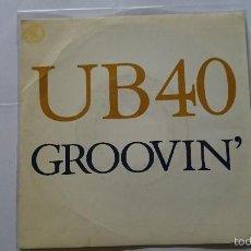 Discos de vinilo: UB40 (UB 40) - GROOVIN' / GROOVIN' (PROMO 1991). Lote 57405426