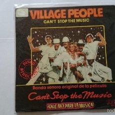 Dischi in vinile: VILLAGE PEOPLE - CAN'T STOP THE MUSIC (QUE NO PARE LA MUSICA) (BSO/OST) / MILKSHAKE (1980). Lote 57407143