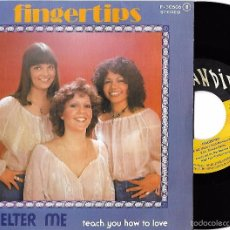 Discos de vinilo: FINGERTIPS: SHELTER ME / TEACH YOU HOW TO LOVE. Lote 57410125
