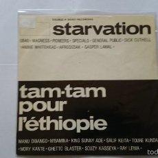 Discos de vinilo: M. DIBANGO, K. SUNNY ADE, S. KEITA, M. KANTE - STARVATION / TAM TAM POUR L'ETHIOPIE (1985). Lote 57412986