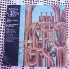 Discos de vinilo: HISTORIA DE LA MÚSICA CODEX VOL. II Nº 9 W. AMADEUS MOZART SINGLE 1966. Lote 57428615