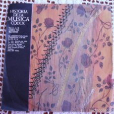 Discos de vinilo: HISTORIA DE LA MÚSICA CODEX VOL. II Nº 18 LUDWIG VAN BEETHOVEN SINGLE 1966. Lote 57428717