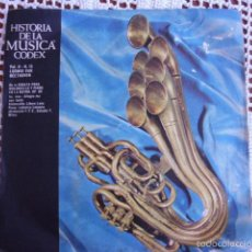 Discos de vinilo: HISTORIA DE LA MÚSICA CODEX VOL. II Nº 15 LUDWIG VAN BEETHOVEN SINGLE 1966. Lote 57428787