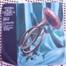 Discos de vinilo: HISTORIA DE LA MÚSICA CODEX VOL. II Nº 16 LUDWIG VAN BEETHOVEN SINGLE 1966. Lote 57428866