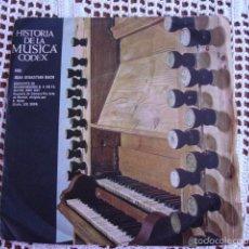 Discos de vinilo: HISTORIA DE LA MÚSICA CODEX XXII JUAN SEBASTIAN BACH SINGLE 1965. Lote 57428998