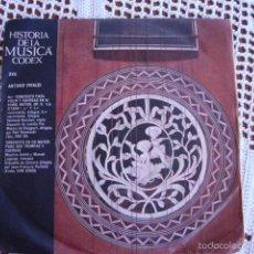 Discos de vinilo: HISTORIA DE LA MÚSICA CODEX XVII ANTONIO VIVALDI SINGLE 1965. Lote 57429062