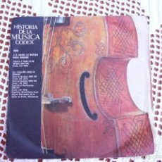 Discos de vinilo: HISTORIA DE LA MÚSICA CODEX XXIII JUAN SEBASTIAN BACH SINGLE 1965. Lote 57429197