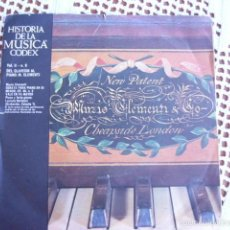 Discos de vinilo: HISTORIA DE LA MÚSICA CODEX VOL. II Nº 6 DEL CLAVECÍN AL PIANO: M.CLEMENTI SINGLE 1966. Lote 57429264