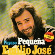 Discos de vinilo: EMILIO JOSÉ - SINGLE VINILO 7'' - EDITADO EN ALEMANIA - PEQUEÑA + PAYASO - JUPITER RECORDS. Lote 57431185