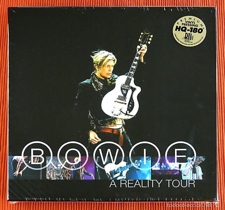 DAVID BOWIE - A REALITY TOUR 3LP VINILO 180G AZUL TRANASLÚCIDO BOX SET USA FRIDAY MUSIC PRECINTADO (Música - Discos - LP Vinilo - Pop - Rock - Extranjero de los 70)