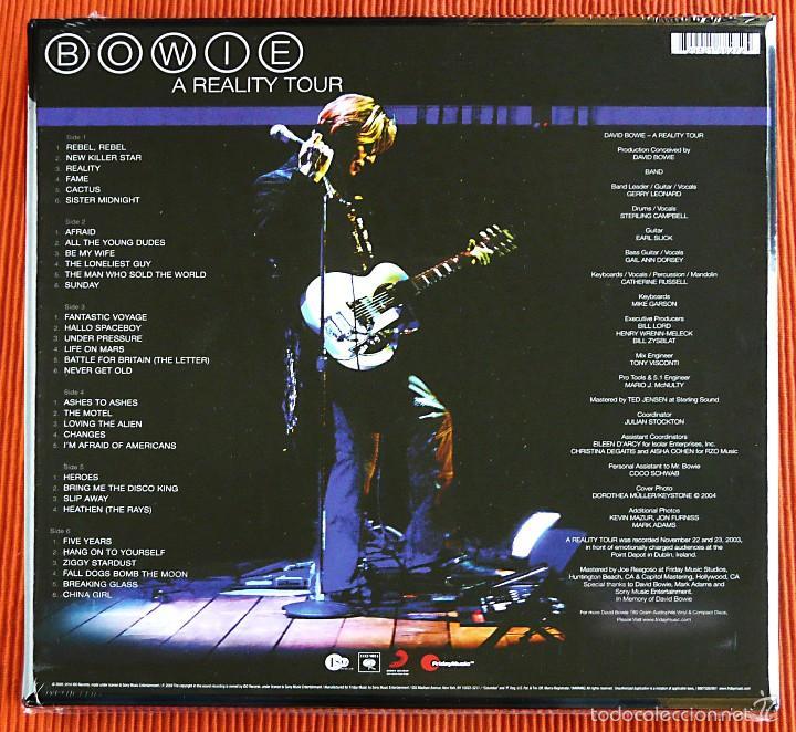 Discos de vinilo: DAVID BOWIE - A REALITY TOUR 3LP Vinilo 180g Azul tranaslúcido Box Set USA Friday Music Precintado - Foto 2 - 57437850