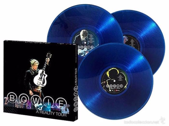 Discos de vinilo: DAVID BOWIE - A REALITY TOUR 3LP Vinilo 180g Azul tranaslúcido Box Set USA Friday Music Precintado - Foto 3 - 57437850