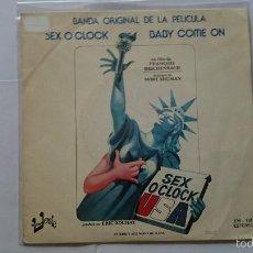 Discos de vinilo: MORT SHUMAN (SEX O'CLOCK USA - BSO/OST) - BABY COME ON / SEX O'CLOCK USA (1977). Lote 57438743