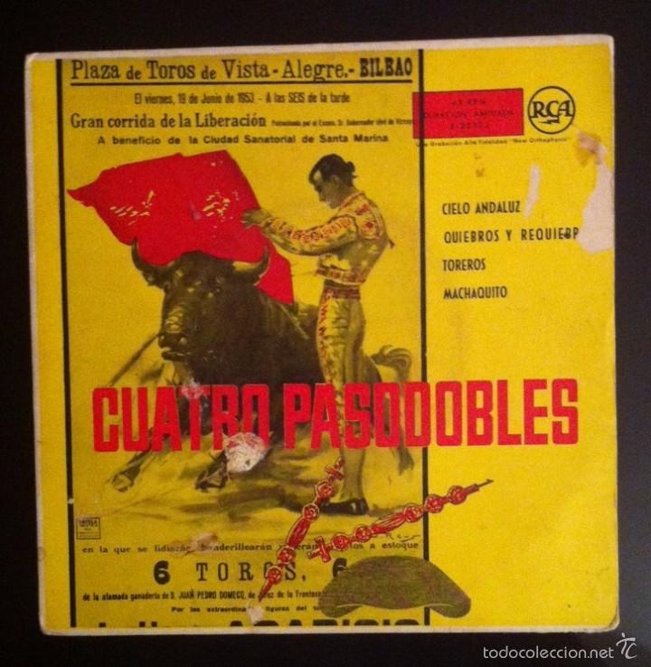 PASODOBLES - BANDA GENARO NÚÑEZ - 1959 - CIELO ANDALUZ, MACHAQUITO... (Música - Discos de Vinilo - EPs - Flamenco, Canción española y Cuplé)