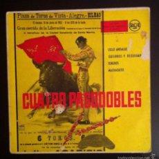 Discos de vinilo: PASODOBLES - BANDA GENARO NÚÑEZ - 1959 - CIELO ANDALUZ, MACHAQUITO.... Lote 57439912