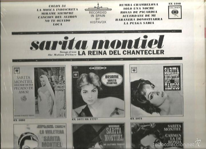 Discos de vinilo: LP SARITA MONTIEL : LA REINA DEL CHANTECLER ( DISCO HIGH FIDELITY, EDITADO EN ESTADOS UNIDOS) - Foto 2 - 57441565