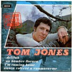 Discos de vinilo: TOM JONES – DELILAH - EP SPAIN 1968 - DECCA SCV 518. Lote 57442703