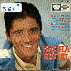 Discos de vinilo: SACHA DISTEL / LA PETITE PUCE / LES LUNETTES + 2 (EP 1966). Lote 57442862