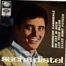 Discos de vinilo: SACHA DISTEL / MONSIEUR CANNIBALE / ON EST SI BIEN (SINGLE 1966). Lote 57442884