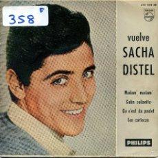 Discos de vinilo: SACHA DISTEL / MADAM' MADAM' / CALIN CALINETTE + 2 (EP 1961). Lote 57442987