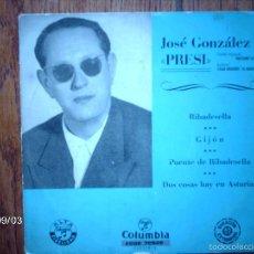 Discos de vinilo: JOSE GONZALEZ - PRESI - RIBADESELLA + 3. Lote 57443633