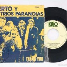 Discos de vinilo: SINGLE DE VINILO - ALBERTO Y LOST TRIOS PARANOIAS. HEADS DOWN NO NONSENSE.. - LOGO, AÑO 1979. Lote 57464601