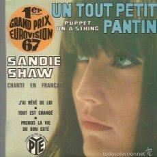 Discos de vinilo: SANDIE SHAW CANTA EN FRANCES EP SELLO PYE AÑO 1969 EDITADO EN FRANCIA FESTIVAL DE EUROVISION . Lote 57471591