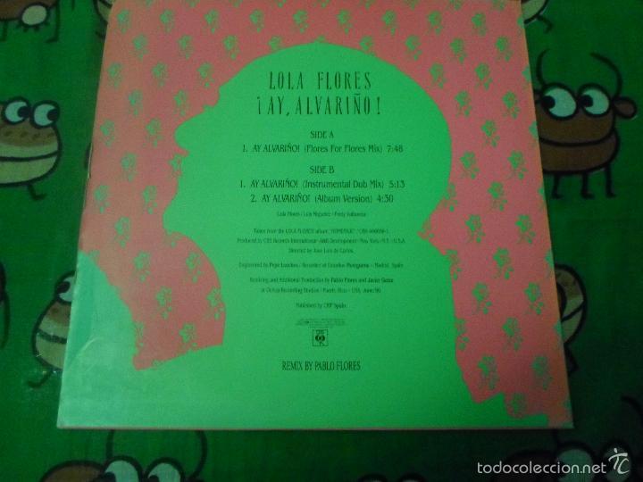 Discos de vinilo: LOLA FLORES ¡ Ay alvariño ! REMIXES PABLO FLORES - Foto 2 - 57471753