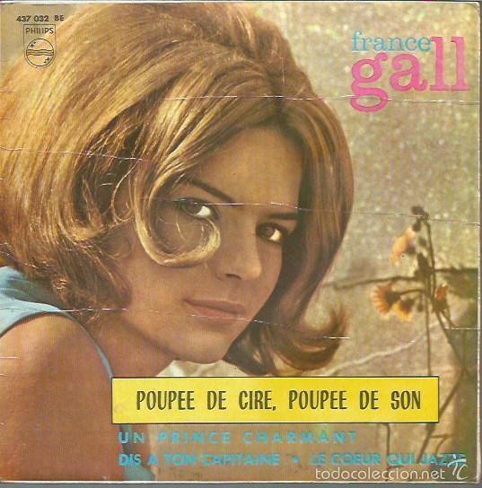 FRANCE GALL EP SELLO PHILIPS AÑO 1965 EDITADO EN ESPAÑA FESTIVAL DE EUROVISION FRANCIA (Música - Discos de Vinilo - EPs - Festival de Eurovisión)