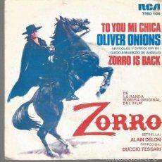 Dischi in vinile: BANDA SONORA DEL FILM EL ZORRO SINGLE SELLO RCA VICTOR AÑO 1975 EDITADO EN ESPAÑA. Lote 57471855