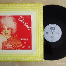 Discos de vinilo: DIVINE - SHAKE IT UP - MAXI VINILO ORIGINAL 1983 EDICION VANGUARD RECORDING . Lote 57487985