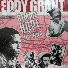 Discos de vinilo: EDDY GRANT GIMME HOPE JO'ANNA' R@RE SPANISH 12 PULGADAS MAXI SINGLE 45 SPAIN 1988. Lote 118483146