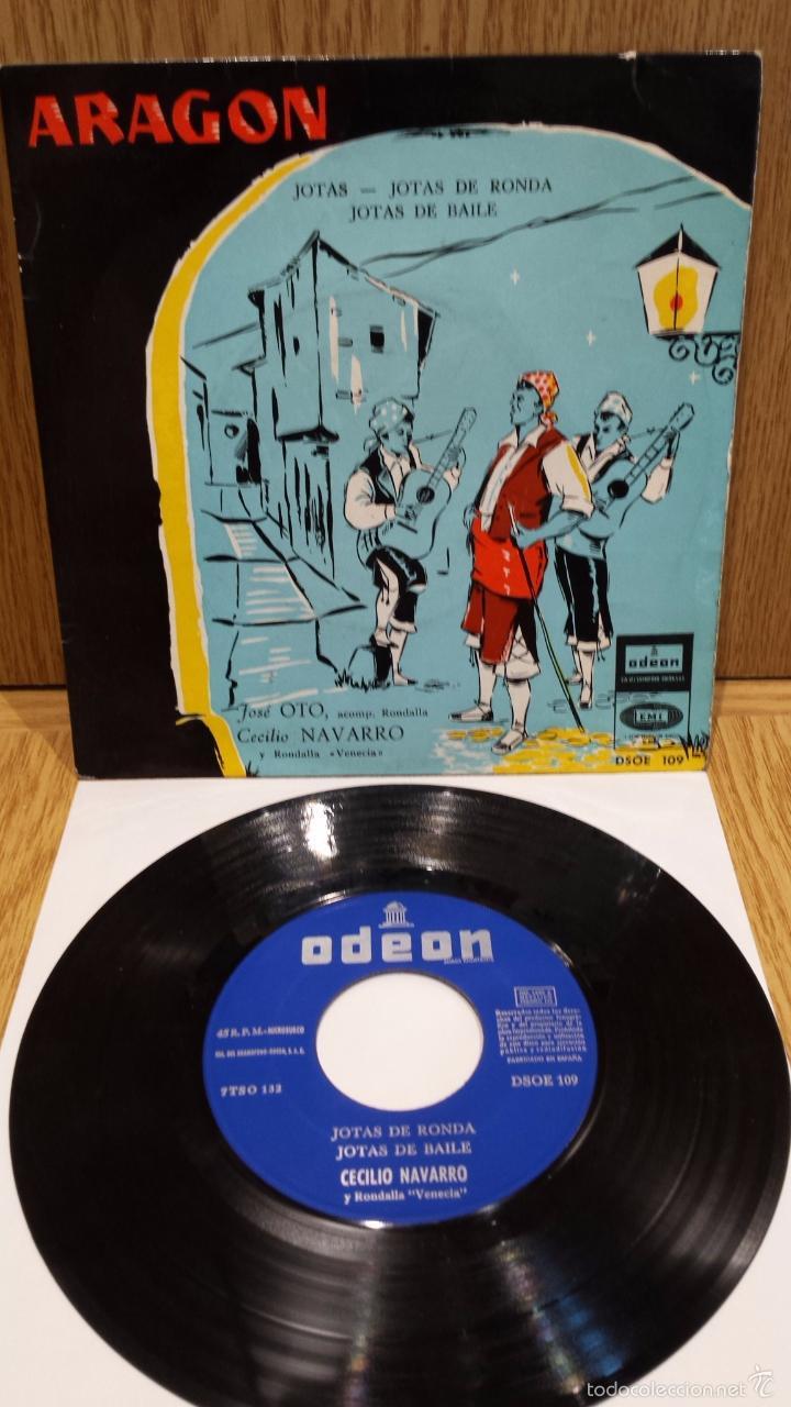 JOTAS. JOSÉ OTO / CECILIO NAVARRO / ARAGÓN / EP / ODEON - 1958 / BC. ***/*** (Música - Discos de Vinilo - EPs - Country y Folk)