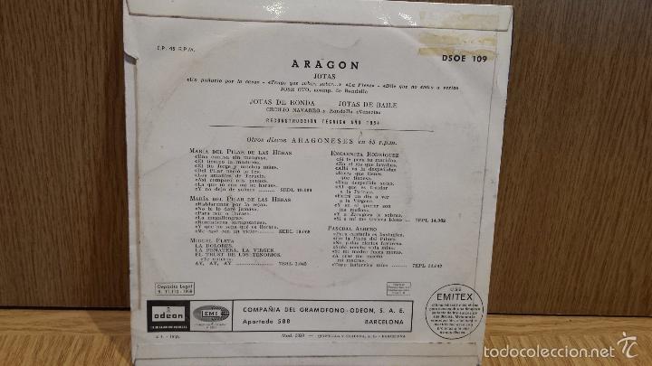 Discos de vinilo: JOTAS. JOSÉ OTO / CECILIO NAVARRO / ARAGÓN / EP / ODEON - 1958 / BC. ***/*** - Foto 2 - 57496925